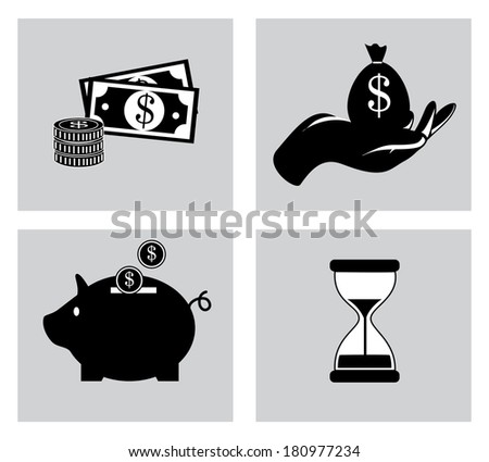 savings design over white background vector illustration - stock vector
