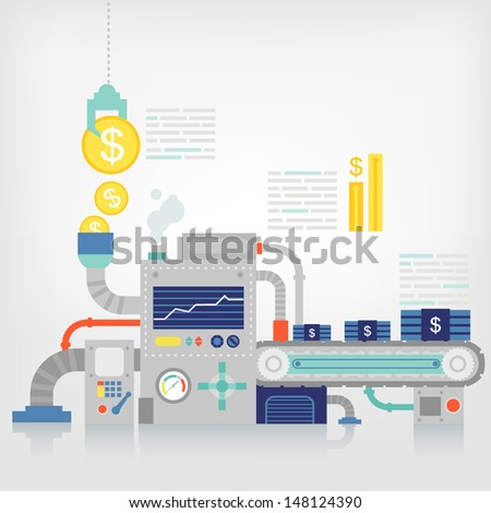 Savings financial/business concept - stock vector