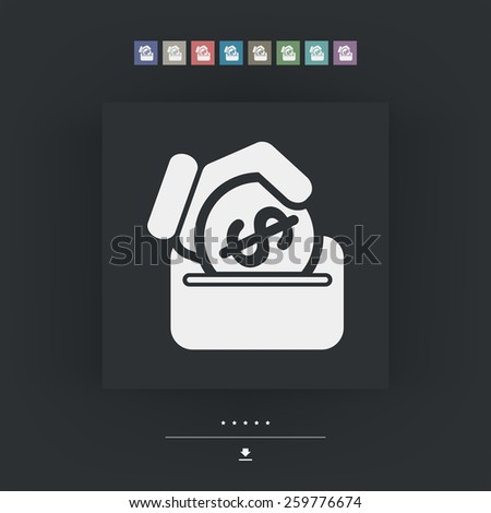 Savings icon - stock vector