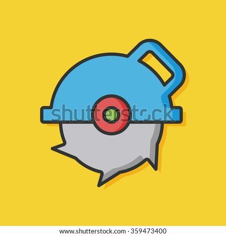 Saws tool vector icon - stock vector