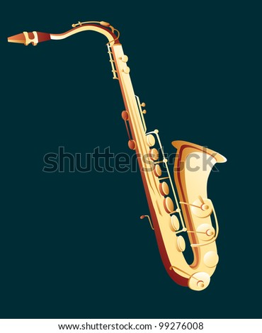 saxophone - stock vector