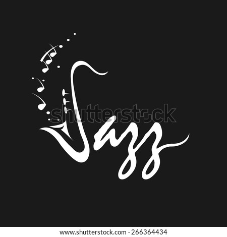 Saxophone Motif - Retro Illustration - stock vector
