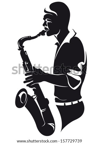 Saxophonist Silhouette Stock Vector 157729739 - Shutterstock