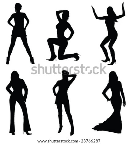 saxy women shapes-vector