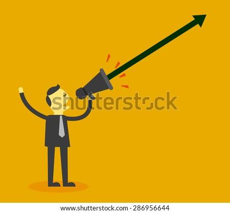 saying make a success - stock vector