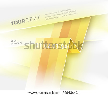 Scalable and Adjustable Vector Graphics Element for Text Box Your Info Composition - stock vector
