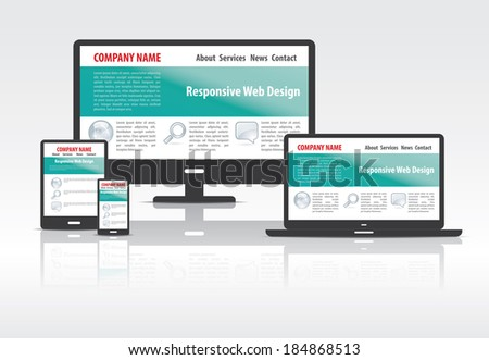 Scalable and flexible modern responsive web design concept . EPS10 file and included high resolution jpg