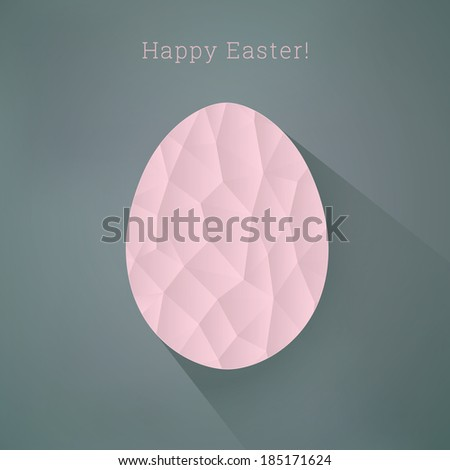 Scalable egg shape illustration with long shadow for easter cards, layouts, cover design - stock vector