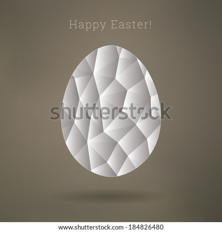 Scalable egg shape illustration with triangle pattern for easter cards, layouts, cover design - stock vector
