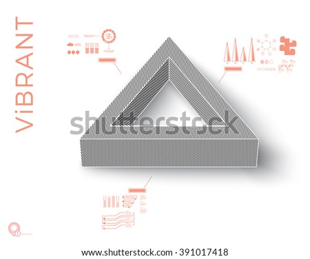 Scalable Eps10 Vector Composition for Your Bright Creative Layout Template Design - stock vector