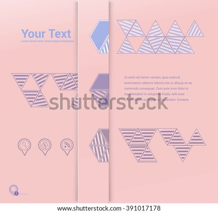 Scalable Eps10 Vector Layout Template for Your Letters and Numbers and Text List Design  - stock vector