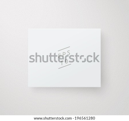 Scalable minimal vector text box on wall for cover design, web page banner, layout, infographics - white version