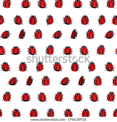 Scalable vector 3d ladybugs pattern background Can be used in cover design, book design, website background, CD cover, advertising.  - stock vector