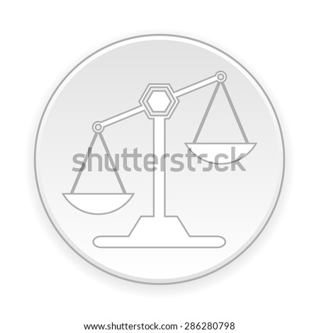 Scale button on white background. Vector illustration.