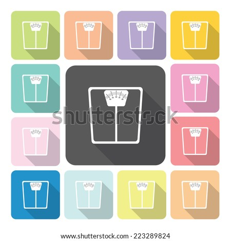 Scale Icon color set vector illustration - stock vector