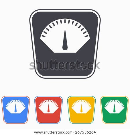 Scale icon, vector illustration. - stock vector