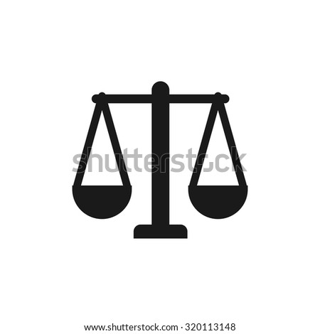 scale of justice. law justice logo.