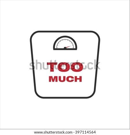 scale weight - stock vector