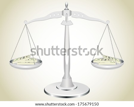 Scale with money