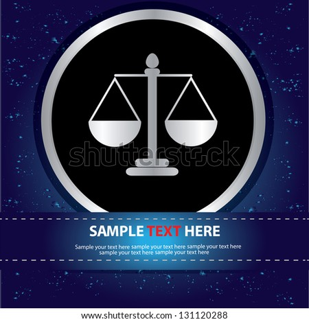 Scales balance sign,vector - stock vector