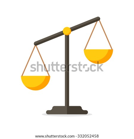 Scales, Flat design, vector illustration, isolated on white background - stock vector