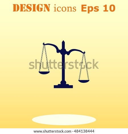 Scales icon, vector illustration