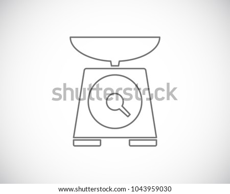 scales kitchen outline icon