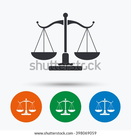 Scales Justice Icon Court Law Symbol Stock Vector Hd Royalty Free