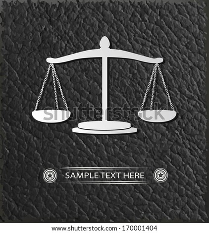 Scales of justice symbol,vector - stock vector