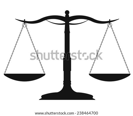 Scales of Justice vector illustration - stock vector