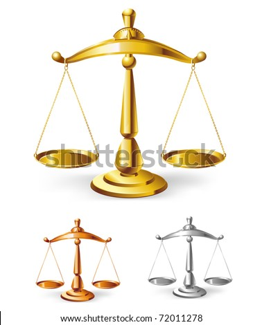 scales set - vector illustration - stock vector