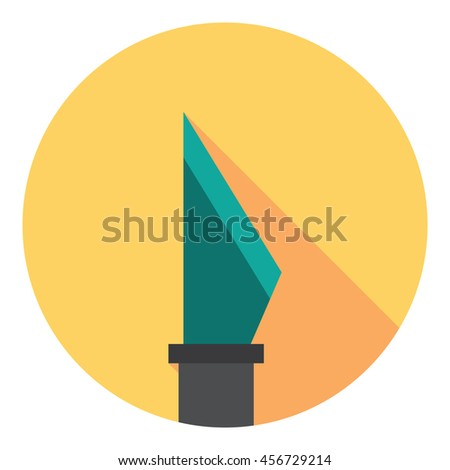 Scalpel Medical Tool Flat Style Design Icon - stock vector