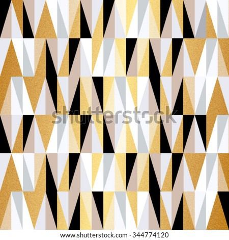 scandinavian design triangles seamless pattern vector background. Christmas colors vector geometric background. - stock vector
