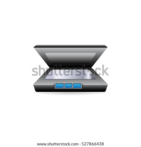 Scanner Document Scan Icon Vector Image Stock Vector 285903092
