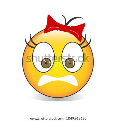 scared face emoji vector stock vector royalty free 1049565620