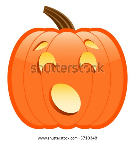 Scared Surprised Jackolantern Perfect Halloween Projects ...