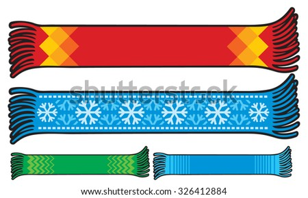 scarf collection - stock vector