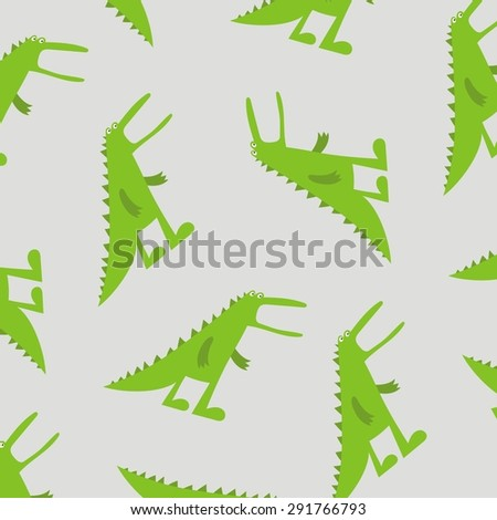 Scary Dinosaur vector cartoon