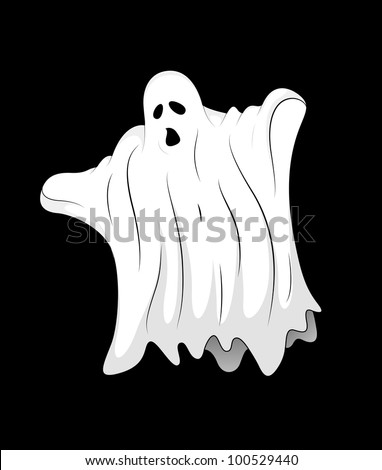 Scary Ghost - stock vector