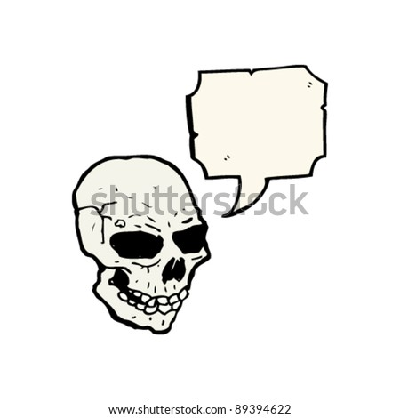 scary halloween skull with speech bubble