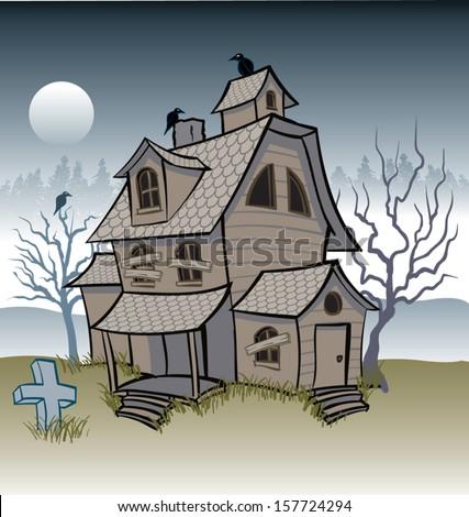 Cartoon haunted house stock photos royalty free images - Cartoon haunted house pics ...