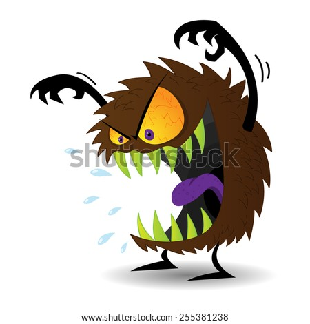 Scary monster - stock vector