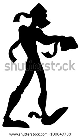 Scary Mummy Silhouette - stock vector