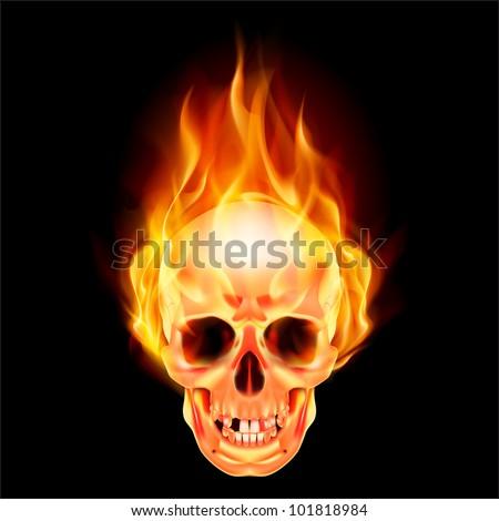 skulls on fire  Scary skull on fire.