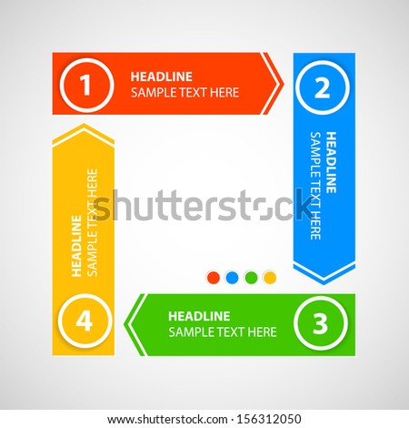 Schema / diagram with numbers. Place for your text.  - stock vector