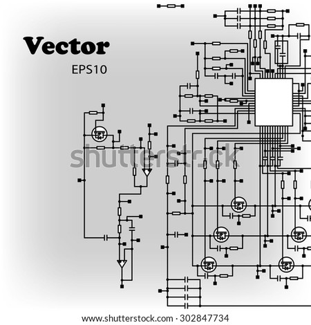Electric circuit diagram stock images royalty free images schematic diagram malvernweather Choice Image