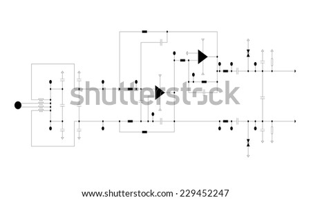 Electric circuit diagram stock images royalty free images schematic diagram project of electronic circuit graphic ccuart Images