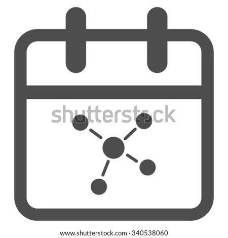 Scheme Date vector icon. Style is flat symbol, gray color, rounded angles, white background. - stock vector
