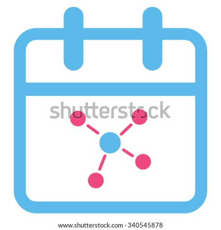 Scheme Day vector icon. Style is bicolor flat symbol, pink and blue colors, rounded angles, white background. - stock vector