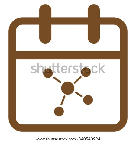 Scheme Day vector icon. Style is flat symbol, brown color, rounded angles, white background. - stock vector
